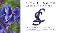 This is my [the author's] business card. It has some artwork on the left, a stylish logo and all the usual information.