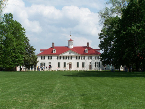 The front of Mount Vernon.