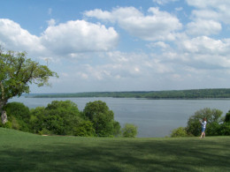 View of the Potomac from Mount Vernon, including surrounding acreage purchased or protected through the MVLA's efforts.