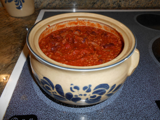 This homemade Chili is great for a cold Winter's night...Yum!