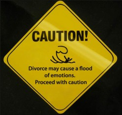 Divorce can cause a flood of emotions