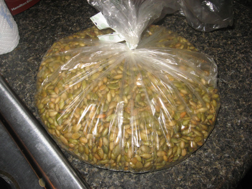I buy pumpkin seeds in bulk.