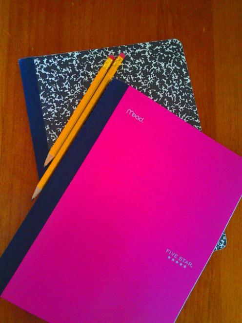 Journals and Pencils