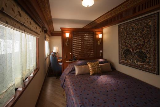 Bedroom, Suite Cabin Plan, Maharajas' Express