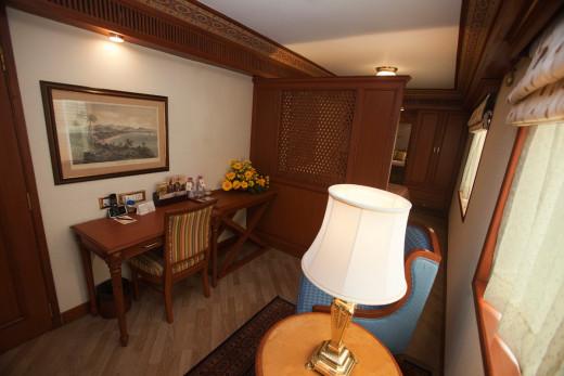 Study Area of the Suite, Maharaja Train
