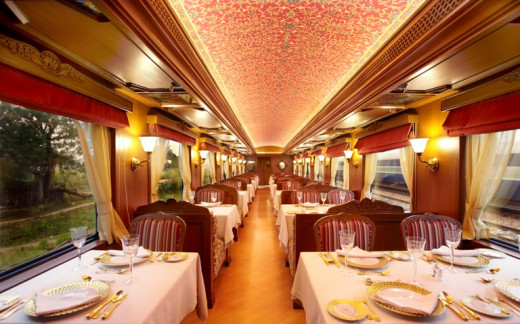 Details of Rang Mahal (Color Palace) Dining Car
