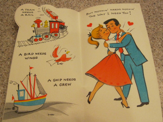 For My Wife, a 1950s humorous Valentine published by the American Greetings Co, Cleveland Ohio USA  Original cost $.25