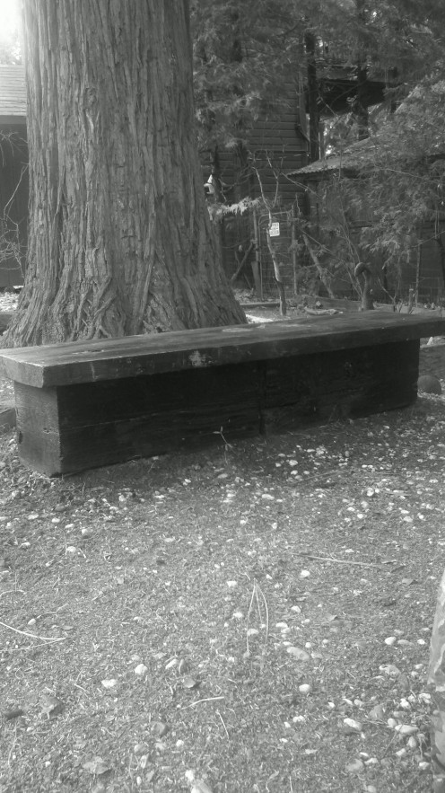Rustic Block and Top Home Made Bench