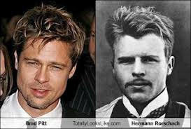 Does Brad Pitt resemble Hermann Rorschach or what?