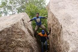 Chimney climbing at Jaichandi Hills