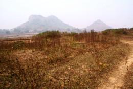 Ram-Sita & Hanuman hills at a distance