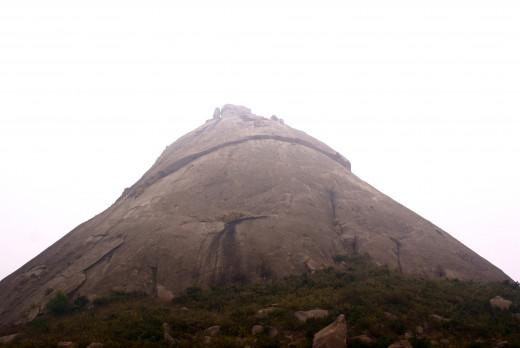 Jogidhal Hill looking strikingly similar to an AATCHALA temple