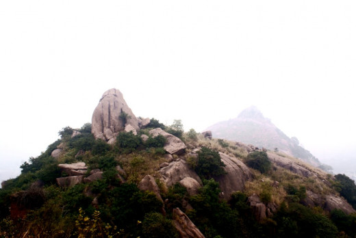 View from the top of Chandi Hill