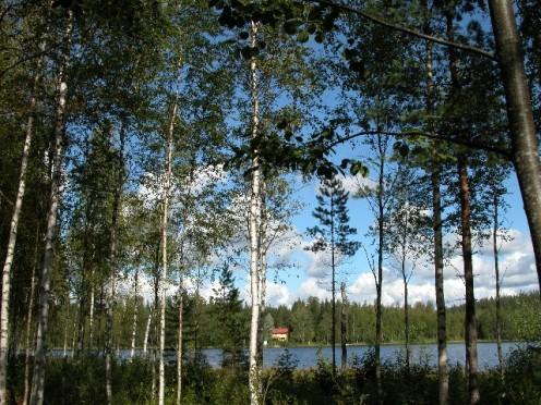 Mairela Retreat from across the lake