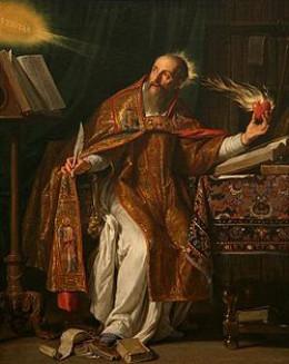 Augustine of Hippo--Philippe de Champaigne, 17th century