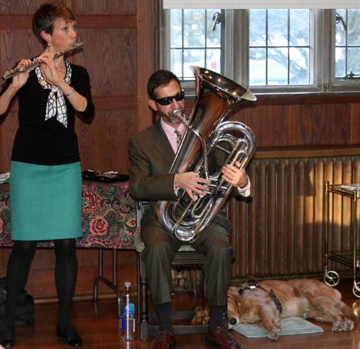 Amy Ridings and Patrick Scannella at Christ Church Cranbrook