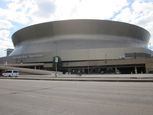 The Mercedes-Benz Superdome in New Orleans, site of Super Bowl XLVII