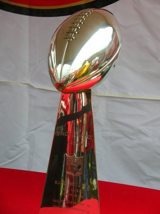 The Vince Lombardi Trophy, awarded to the winner of the Super Bowl