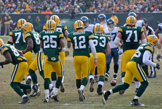 "Aaron ""double-check"" Rodgers (#12), quarterback of the Green Bay Packers"