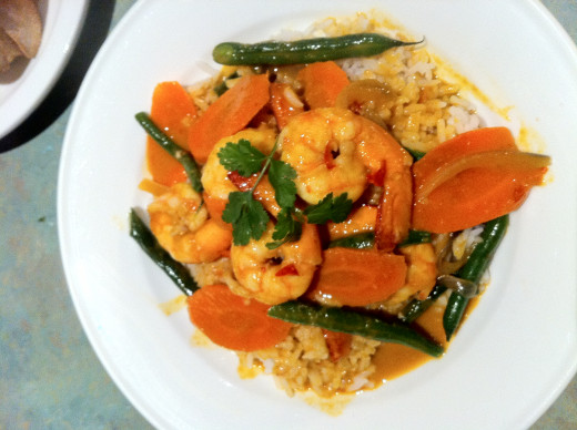 Home Cooked - Penang Curry Prawns