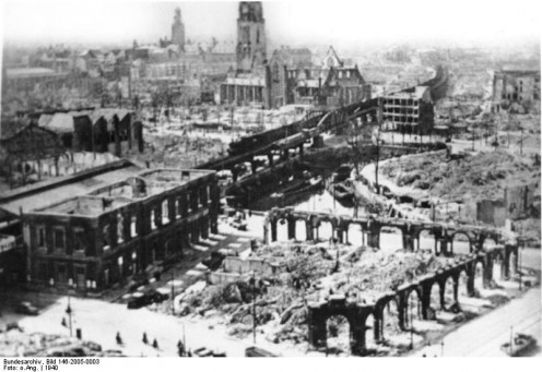 Rotterdam, destruction, 1940