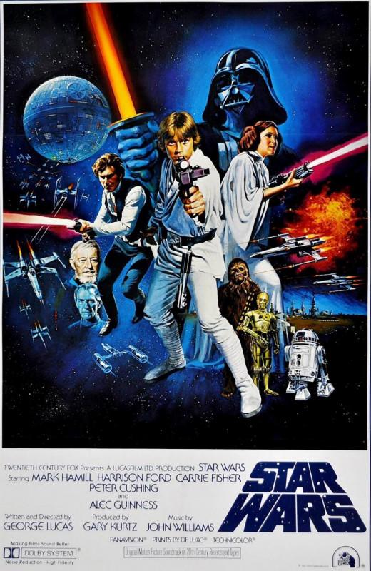 Star Wars (1977) art by Tom Chantrell