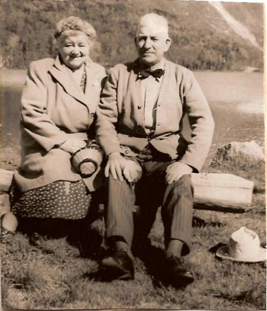 Grama Jensen and my grandfather posing for a picture in Montpelier, Vermont, in the the late 1950s.