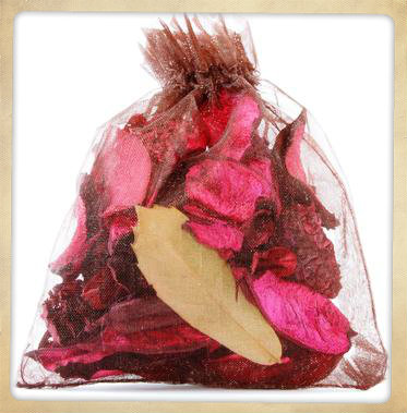 "Have a Potpourri table set up for the guests to make their own potpourri bags. It's a great ""take home"" gift."