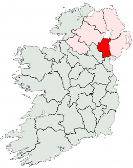 Map location of County Armagh