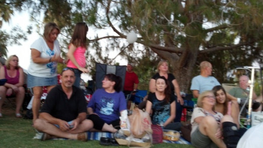a picnic and concert in the park