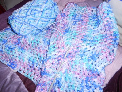 Double Stitch Crochet Baby Blanket Pattern : Learning to crochet. How to Make a Baby Blanket using ...