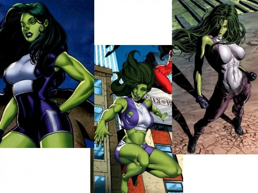 She-Hulk Purple Costume Variants