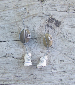 Pebble and Seashell Earrings