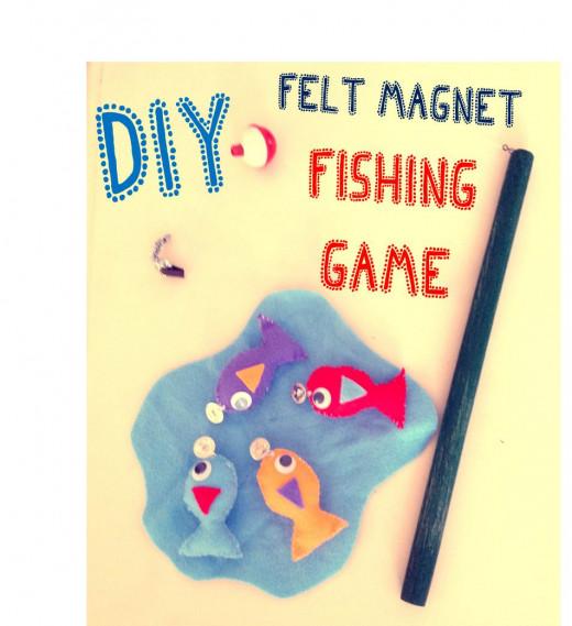 DIY Felt Magnet Fishing Game