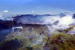 The Mount Tambora caldera - what remained after the eruption in 1815