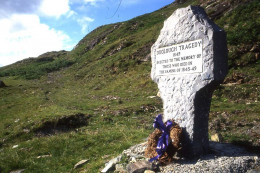 The tribute to the Doolough martyres who travelled in search of food, many of them dying on the journey in bleak conditions.