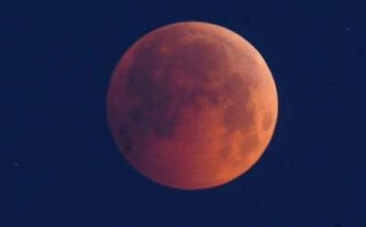 I captured this photo of the Moon when I noticed it was much redder in color than I had ever seen it before.