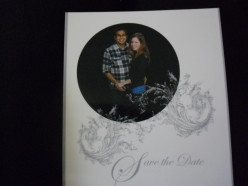 Our wedding save the dates were printed off from Walmart very inexpensively.