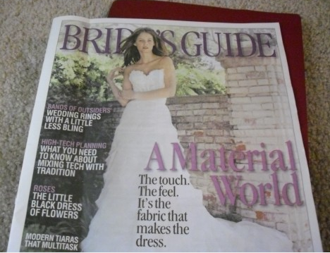 Bride's Guide magazine often comes free when submitting your engagement announcement.