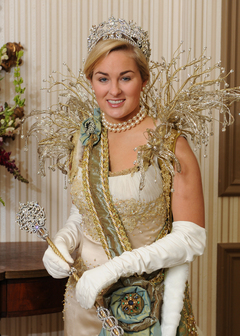 Mobile, Alabama Queen of Carnival several years back.  Crown based on 1800's crown designed by Dynasty Collection.