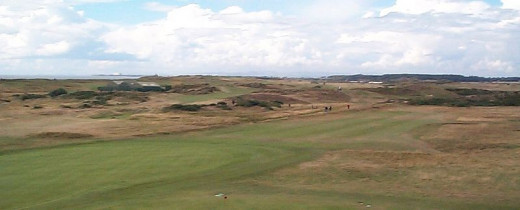The 18th hole at Prestwick in the UK, the site of the first British Open in 1860.