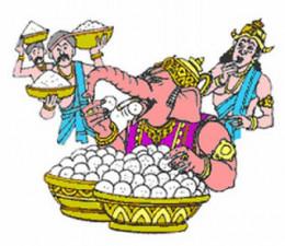 Señor Ganesha y Kubera