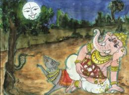 Señor Ganesha y la Luna
