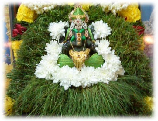 Lord Ganesha and Durva (Bermuda Grass)