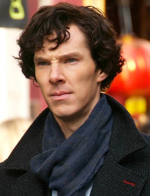 Benedict Cumberbatch as a modern Sherlock Holmes