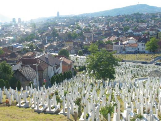 One of the many cemeteries of Sarajevo
