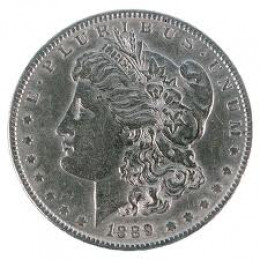 The 1889-CC Morgan silver dollar is highly rare and valued. Prime examples can be worth a few hundred thousand dollars or more!