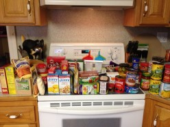 Extras Food Items in the Cabinets