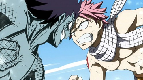 Natsu Dragneel vs Gajeel Redfox: An action-packed anime treat!