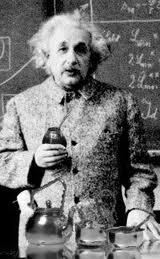 Albert Einstein drinking Yerba Mate Tea